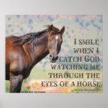 A través de los ojos de un caballo posters