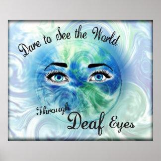 … A través de los ojos sordos 2012poster Póster