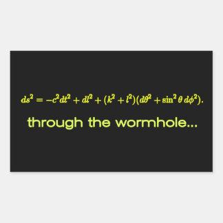 A través de los productos BG negra del Wormhole Pegatina