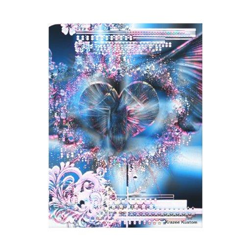 A través del corazón (edición del navidad 3) lona estirada galerías