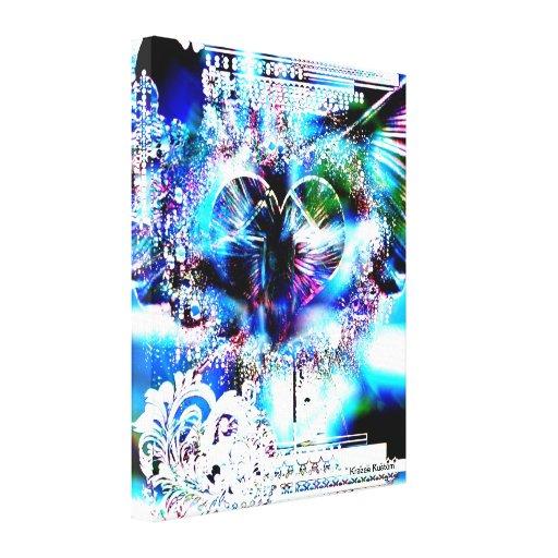 A través del corazón (edición del navidad 4) impresión en lienzo estirada