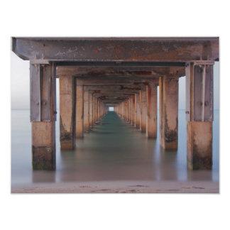A través del embarcadero impresiones fotograficas