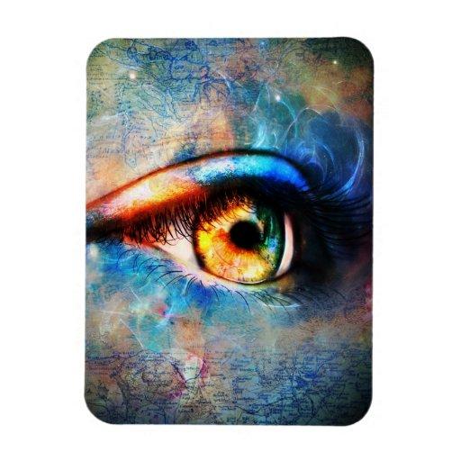 A través del imán de Flexi del ojo de los viajeros