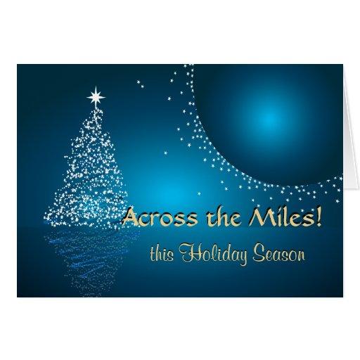 A través del navidad de las millas tarjeta de felicitación