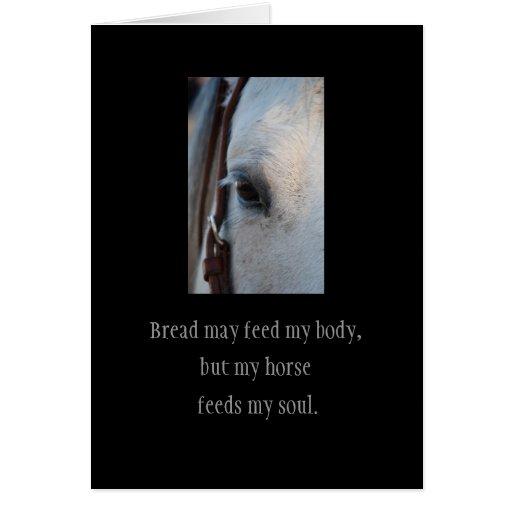 A través del ojo de una tarjeta del caballo