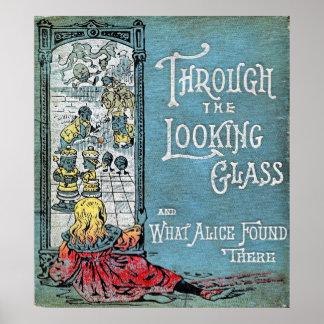 A través del poster del espejo