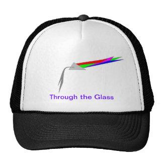 A través del vidrio gorras