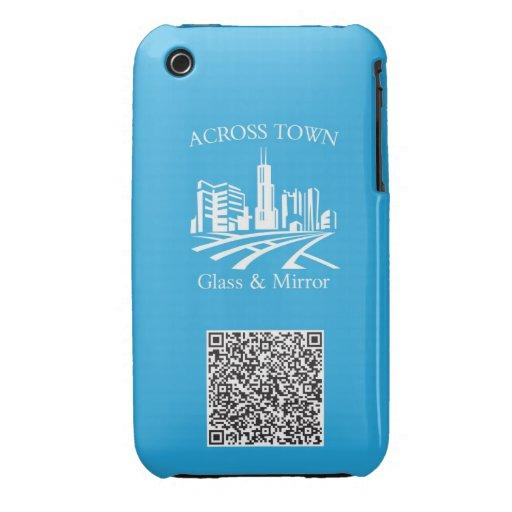 A través del vidrio y de Mirros de la ciudad iPhone 3 Case-Mate Carcasa