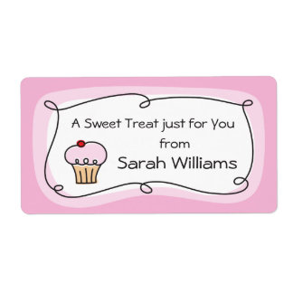 A treat for you personalized kitchen label