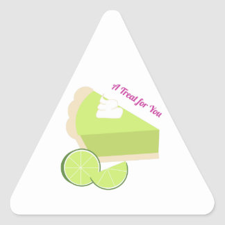 A Treat For You Triangle Sticker