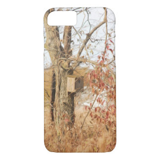 A Tree During Fall with a Bird Feeder iPhone 8/7 Case