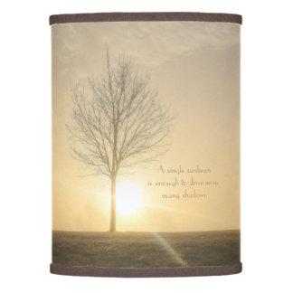 A Tree, Fog & a Sunrise with Beams of Light Lamp Shade
