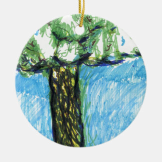 A Tree From My Hearts Mind Ceramic Ornament