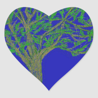 A Tree Heart Stickers