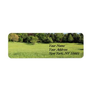 A Tree in a Field of Green Custom Return Address Label