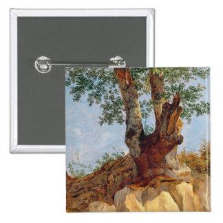 A Tree in Campagna, 1822-23 2 Inch Square Button