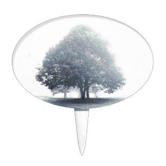 A Tree in Fog Cake Topper