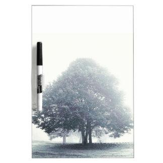 A Tree in Fog Dry Erase Board
