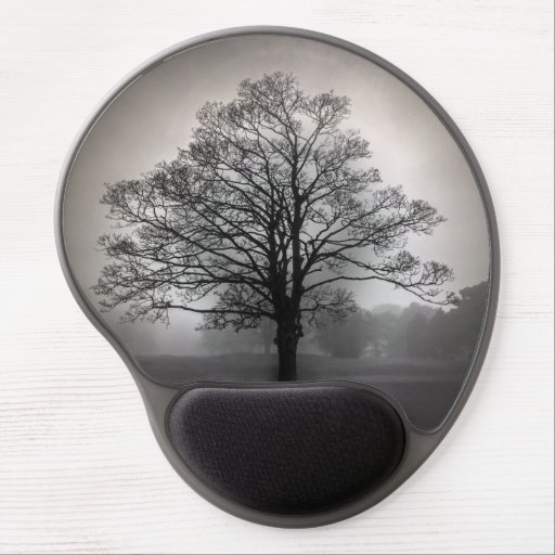A Tree in the Fog Gel Mouse Pad