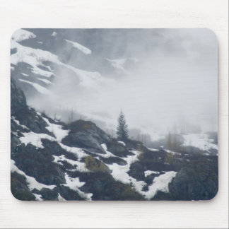A tree in the mist mouse pad