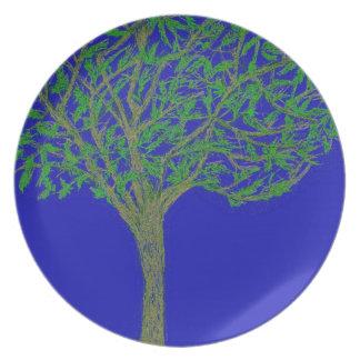 A Tree Melamine Plate