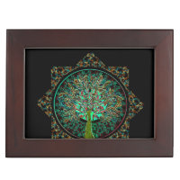 a tree of life star shaped pattern with black back memory box