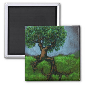 A Tree on a Hill Magnet