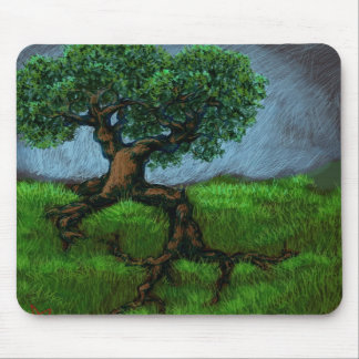A Tree on a Hill Mouse Pad