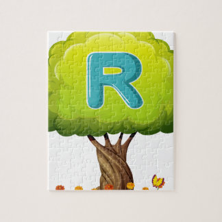 A tree with a letter R Jigsaw Puzzles