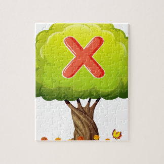A tree with a letter X Jigsaw Puzzles