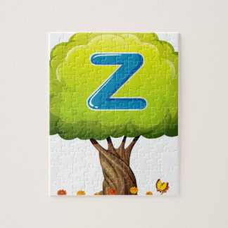 A tree with a letter Z Jigsaw Puzzles