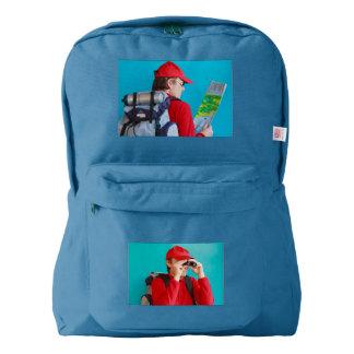 a trekker on American Apparel™ Backpack, American Apparel™ Backpack