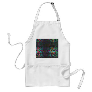A Trendy Chic Colorful Watercolor Cross Pattern Adult Apron