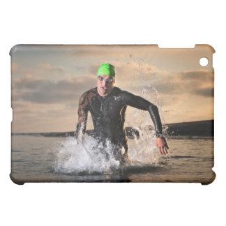 A triathlete at the ocean iPad mini covers