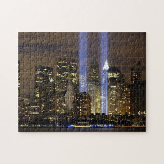 A tribute to the Twin Towers on 9/11. Jigsaw Puzzle