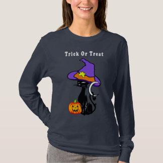 A Trick or Treat Black Cat T-Shirt