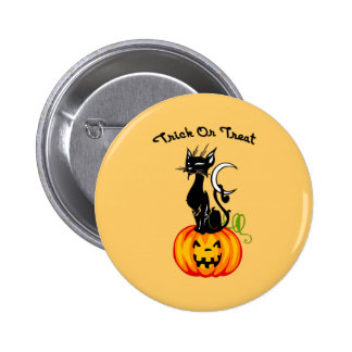 A Trick or Treat Cat Buttons