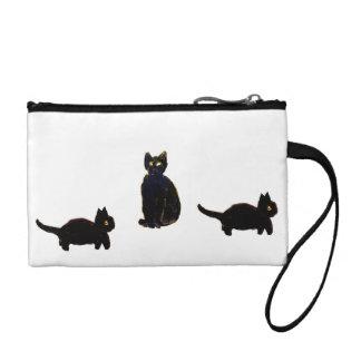 A trio of Cute Black Cats Coin Purse