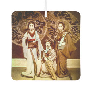 A Trio of Japanese Geisha in Old Japan Vintage 芸者 Air Freshener