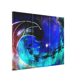 A Trip Into The Wormhole Canvas Print