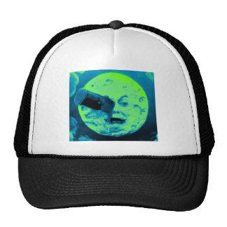 A Trip to the Moon (Aqua Marine Retro Sci Fi) Mesh Hats