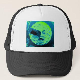 A Trip to the Moon (Aqua Marine Retro Sci Fi) Trucker Hat