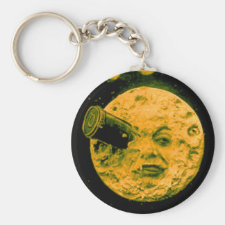 A Trip to the Moon Basic Round Button Keychain