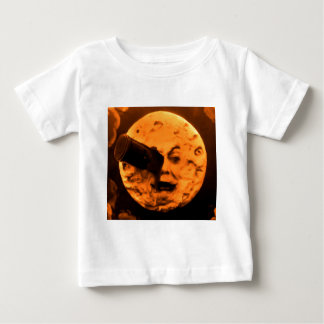 A Trip to the Moon (Blood Orange Sepia) Baby T-Shirt