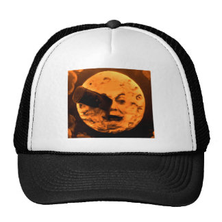 A Trip to the Moon Blood Orange Sepia Mesh Hats