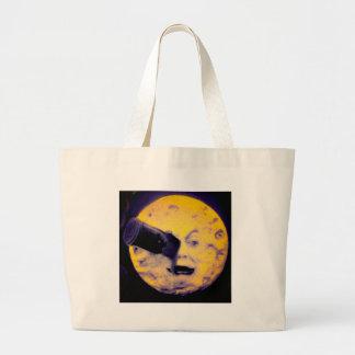 A Trip to the Moon Deep Sleep Purple Nightmare Large Tote Bag