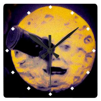 A Trip to the Moon Deep Sleep Purple Nightmare Square Wall Clock