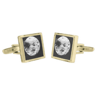 A Trip to the Moon Gold Cufflinks