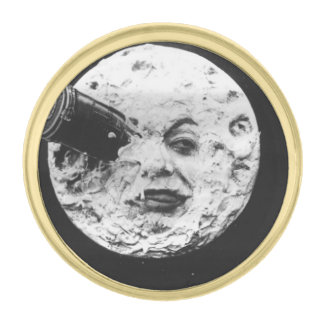 A Trip to the Moon Gold Finish Lapel Pin