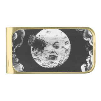 A Trip to the Moon Gold Finish Money Clip